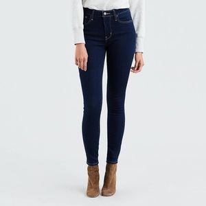 Levi's dark wash high-rise skinny jeans